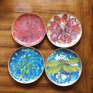 Pottery Barn Art Nouveau Decorative Plates